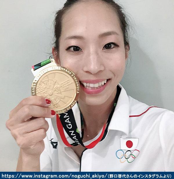 野口啓代選手優勝金メダル