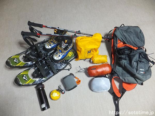 冬の藻琴山装備