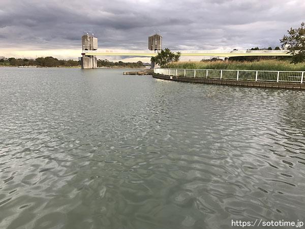 多摩川登戸近辺の支流、水路との合流点スモールマウスバスポイント02
